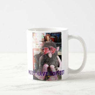 Caneca De Café Deve comer o café!