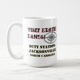 Caneca De Café Dever NC de Jacksonville da excursão dos E.U.