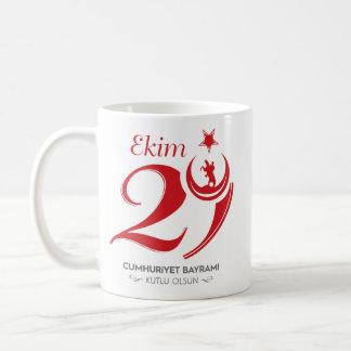 Caneca De Café Dia da república do copo de Turquia