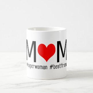 Caneca De Café Dia das mães vermelho do melhor amigo do