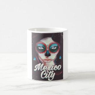 Caneca De Café Dia de Cidade do México do poster de viagens