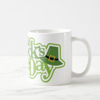 Caneca De Café Dia de São Patrício, design irlandês de Patrick de