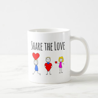 Caneca De Café Dia dos namorados & amor - compartilhe do amor -