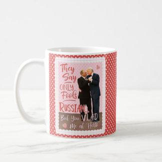 Caneca De Café Dia dos namorados engraçado de Donald Trump