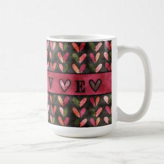 """Caneca De Café Dia dos namorados - o coração modela o """"amor """""""