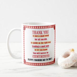 Caneca De Café Dia feliz do professor a você
