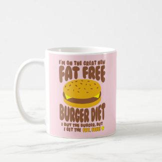 Caneca De Café Dieta livre de gordura do hamburguer