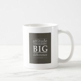 Caneca De Café Diferença grande pequena da atitude de Churchill