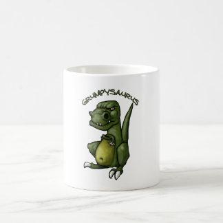 Caneca De Café Dinossauro de Grumpysaurus que é mal-humorado!