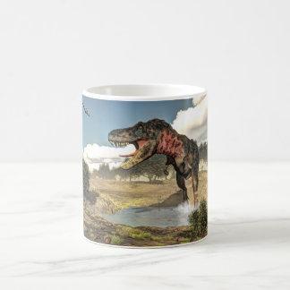 Caneca De Café Dinossauro de Tarbosaurus - 3D rendem
