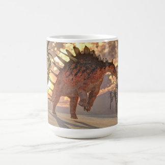 Caneca De Café Dinossauro do Kentrosaurus - 3D rendem
