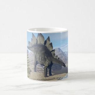 Caneca De Café Dinossauro do Stegosaurus - 3D rendem