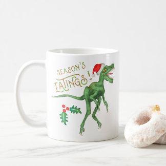 Caneca De Café Dinossauro engraçado Eatings do Velociraptor do