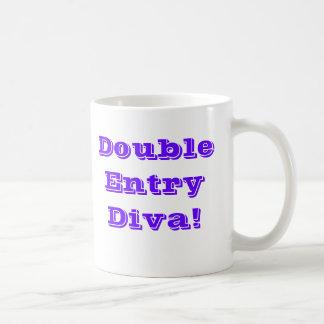 Caneca De Café Diva da entrada dobro! Contador fêmea especial