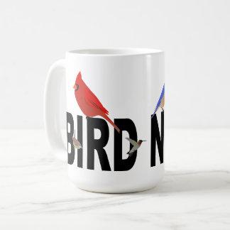 Caneca De Café Divertimento do nerd do pássaro
