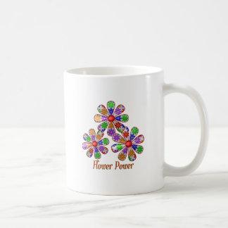 Caneca De Café Divertimento flower power