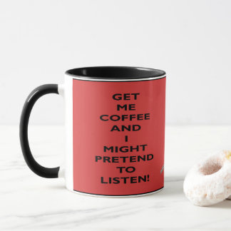 Caneca de café - diz como você sente na manhã
