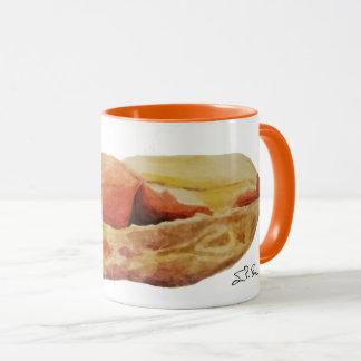 Caneca de café do amendoim