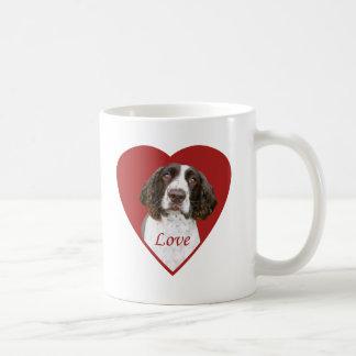 Caneca de café do amor do Spaniel de Springer