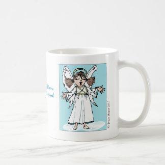 Caneca de café do anjo do canto do Natal