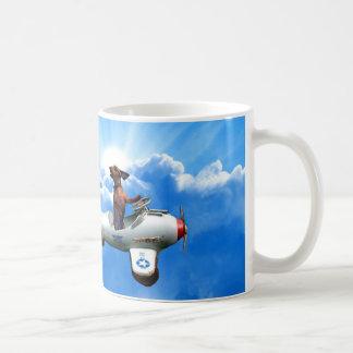 """Caneca De Café Do """"aviador Dachshund"""" projetado por Zermeno"""
