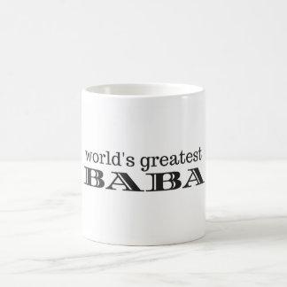 Caneca de café do babá do mundo a grande
