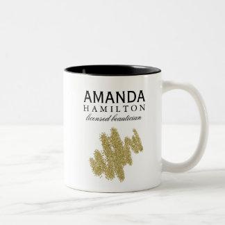 Caneca de café do Beautician do brilho do ouro