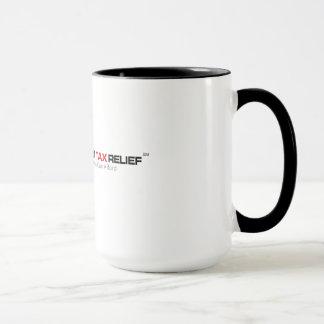 Caneca de café do benefício fiscal do disconto