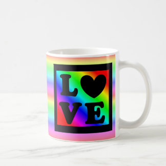 Caneca de café do botão do amor do coração do