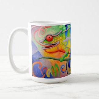 Caneca de café do camaleão