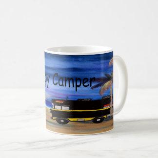 Caneca de café do campista feliz de minha arte
