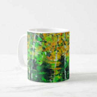 """Caneca De Café Do """"caneca de café acrílica da arte da floresta"""