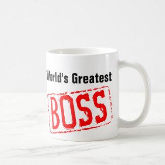 Caneca de café do chefe do mundo a grande