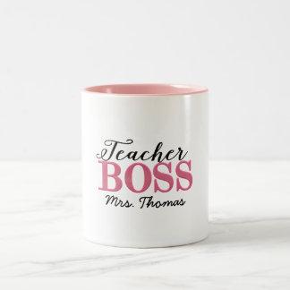 Caneca de café do chefe do professor