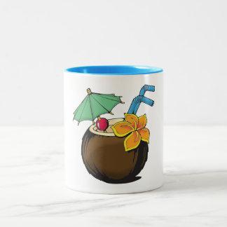 Caneca de café do coco