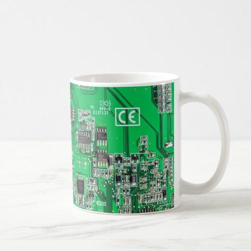 Caneca de café do conselho de circuito do geek do