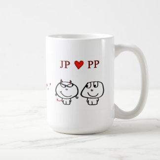 """Caneca De Café Do """"coração PP Reino Unido JP """""""