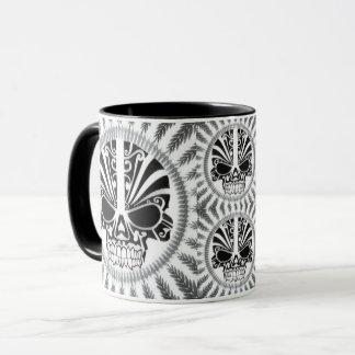caneca de café do crânio