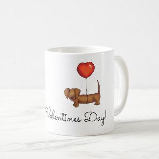 Caneca de café do Dachshund - dia de namorados