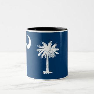 Caneca de café do Dois-Tom da bandeira do estado