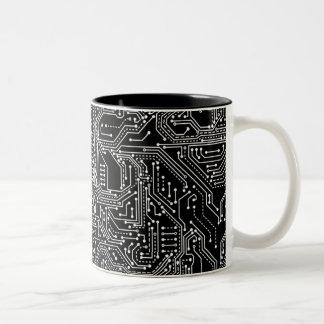 Caneca de café do Dois-Tom do conselho de circuito
