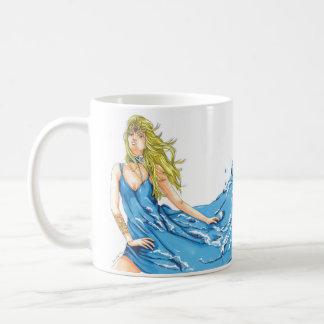 Caneca de café do duende da água da fantasia