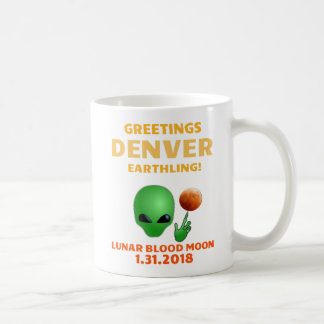 Caneca de café do Earthling de Denver dos