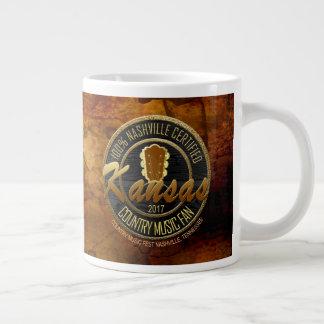 Caneca de café do fã de música country de Kansas