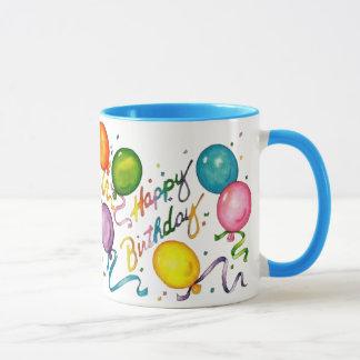 Caneca de café do feliz aniversario