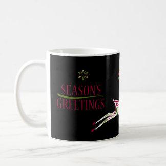 Caneca de café do feriado da rena