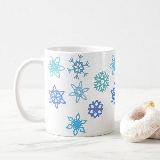 Caneca de café do feriado de inverno do teste