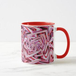 Caneca de café do feriado do bastão de doces