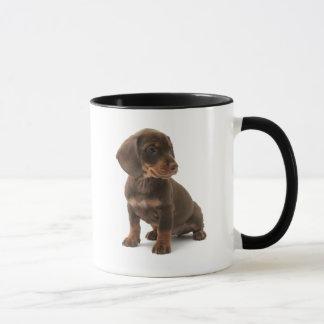 Caneca de café do filhote de cachorro do Dachshund
