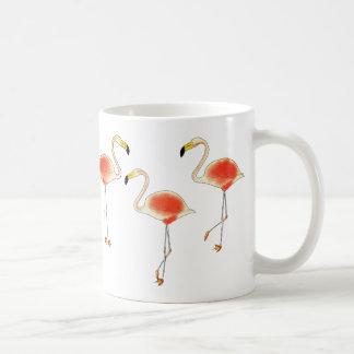Caneca de café do flamingo
